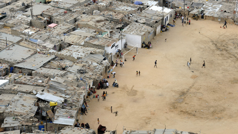 But despite the progress made since 2002, Angola remains one of the most unequal societies in the world. In Luanda, millions of people live in crowded shantytowns, like  the Boa Vista slum (pictured), in squalid conditions.