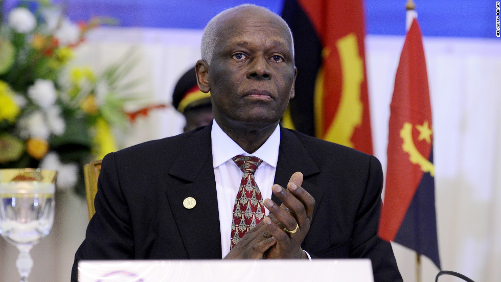 Angolan President Jose Eduardo dos Santos, 70, has been in power since 1979. Analysts expect his party, MPLA, to win Friday's elections.