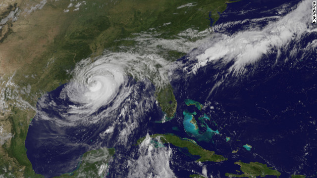 Hurricane Isaac on Wednesday, August 29 at 10:25 a.m.