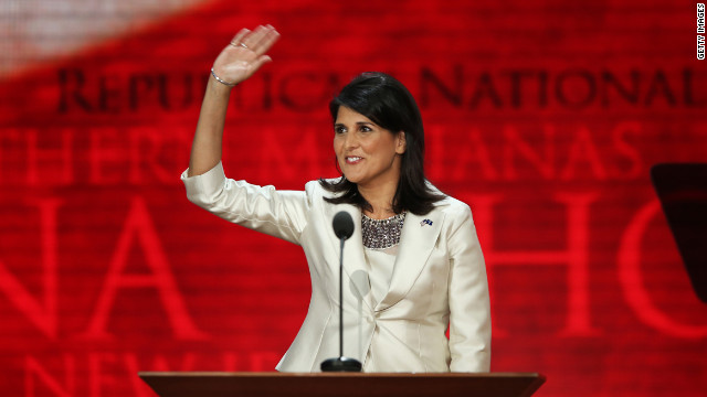 "South Carolina Gov. Nikki Haley, shown here at the 2012 Republican National Convention, is a GOP star but Tom Ervin calls her ""a disaster."""