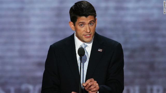 Paul Ryan, Mitt Romney's running mate, speaks Wednesday at the Republican National Convention in Tampa.
