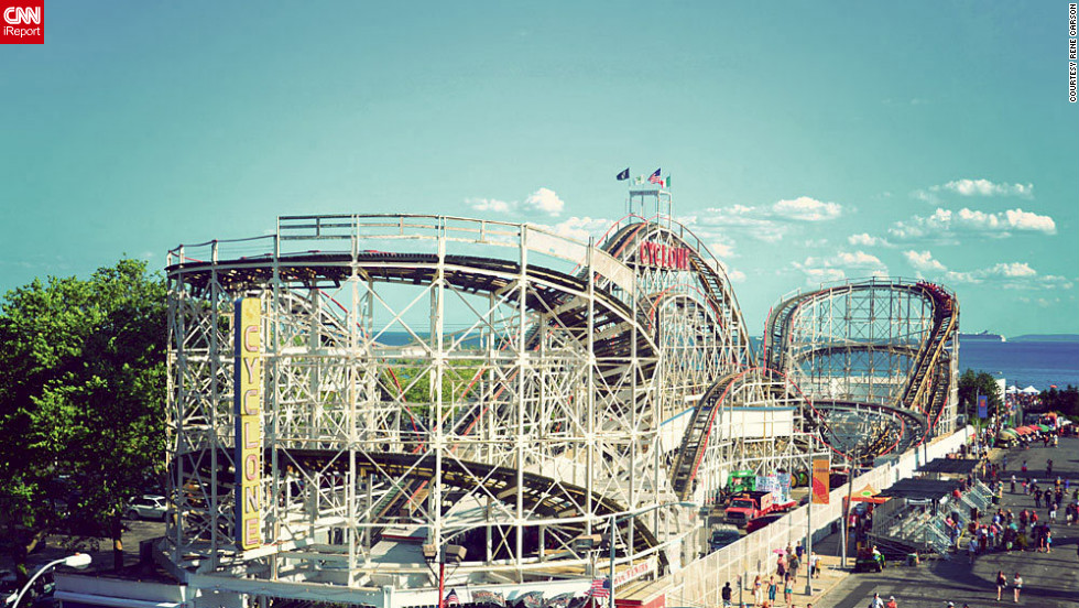 "Rene Carson <a href=""http://ireport.cnn.com/docs/DOC-831726"">took this photo at Coney Island</a> in Brooklyn, New York. ""Roller coasters are generally my favorite amusement park rides, and the Cyclone is lots of fun to ride."""