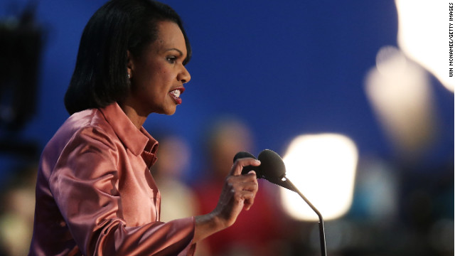 "Former U.S. Secretary of State Condoleezza Rice in 2012. She has recently recorded ""Amazing Grace"" with violinist Jenny Oates Baker."