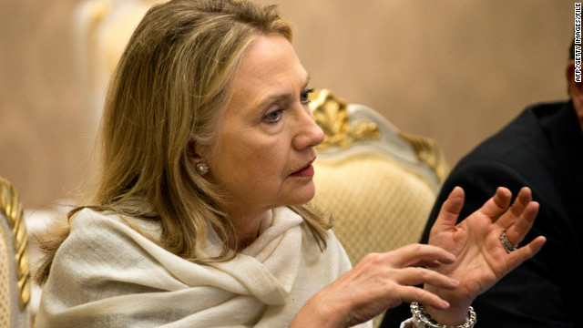 U.S. Secretary of State Hillary Clinton is shown in Phnom Penh, Cambodia, in July.