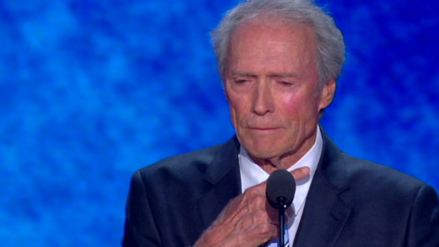 Clint Eastwood throat-slice move at RNC