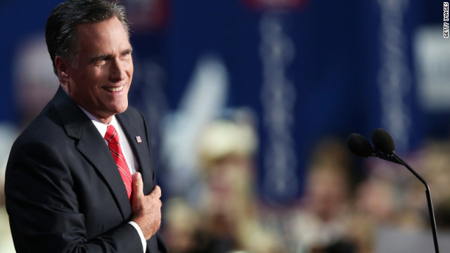 Romney interrupted during RNC speech