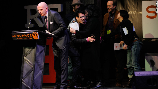 "Mads Brugger accepts the World Cinema Jury Prize for Documentary for ""The Red Chapel"" during the 2010 Sundance Film Festival."
