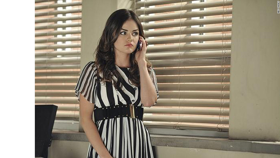 """I'm obsessed with stripes, and Aria lets me get out my obsession through her clothing,"" Line said. ""That dress was ... to the floor and long-sleeve. I knew it had potential, so I chopped away."""