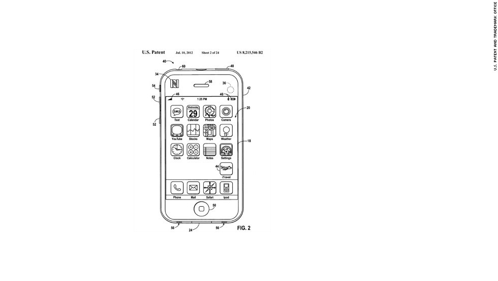 "Apple's vision for its app, according to U.S. Patent and Trademark Office, shows an icon in the screen's lower right labled ""iTravel.""Apple is releasing a mobile wallet app called Passbook which could lead to some of the ideas suggested in these iTravel patent schematics, which were submitted in 2008. The patent was granted last July.""Empty pocket"" travel apps would eliminate the need to carry credit cards, airline tickets, boarding passes, baggage claim stubs, car or hotel reservations, or even personal identification. Click through the gallery to see more."
