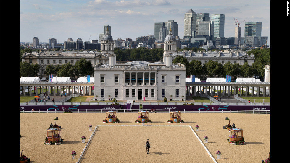 LONDON, ENGLAND - AUGUST 31:  General view of Greenwich Park equestrian venue as competitors take part the Dressage event on day 2 of the London 2012 Paralympic Games at Greenwich Park on August 31, 2012 in London, England.  (Photo by Chris Jackson/Getty Images)