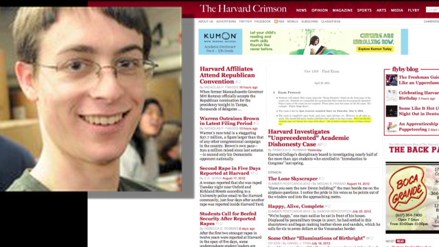 2012: Harvard students cheating?