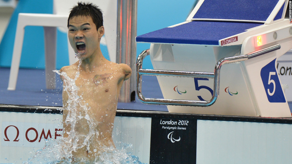 Chinese swimmer Zheng Tao has no arms, but that didn't stop him winning gold against competitors more physically abled.