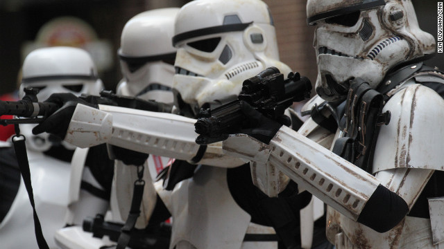 Members of the 501st in the Dragon Con parade.