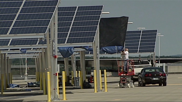 Solar panels cause trouble at airport
