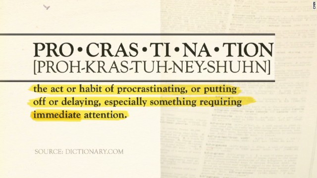 Author explains art of procrastination