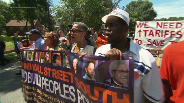 Occupy protesters march before DNC