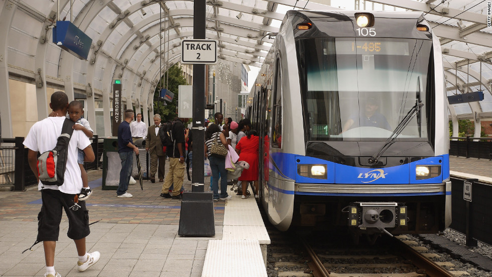 When the DNC pushes Charlotte's population of almost 750,000 by 35,000, many will use LYNX to get around the city. LYNX is a 9.6-mile light rail line serviced by the Charlotte Area Transit System.
