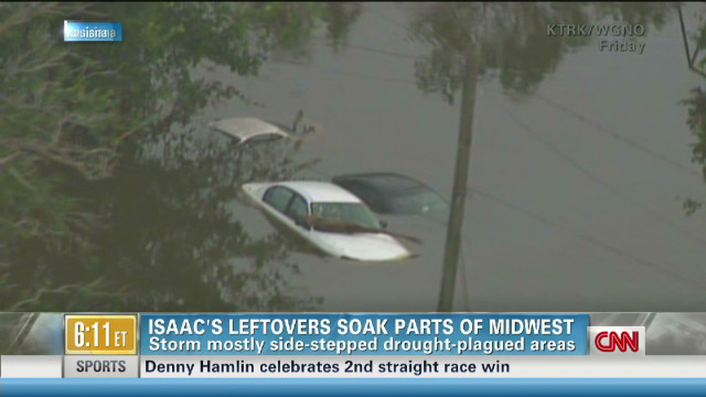 Isaac's leftovers soak parts of Midwest