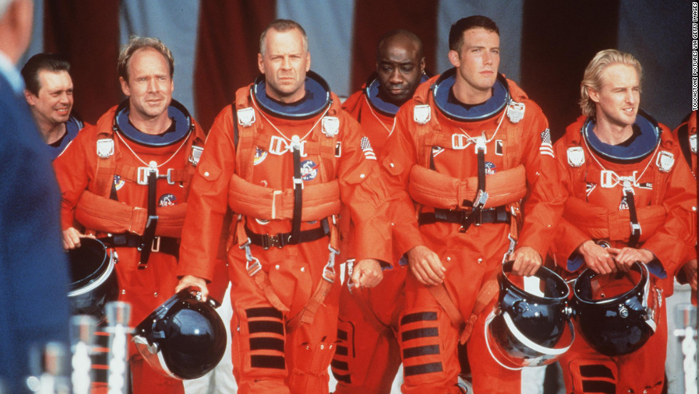"In 1998, Duncan landed his first significant movie role, playing Bear in ""Armageddon."" From left, Steve Buscemi, Will Patton, Bruce Willis, Duncan, Ben Affleck and Owen Wilson co-star in the film."