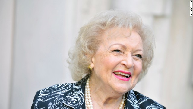Betty White arrives for an evening with Betty White held at Academy of Television Arts & Sciences on May 10, 2012 in North Hollywood, California.