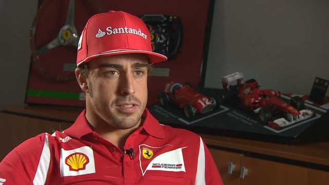 Ferrari's Fernando Alonso talks ahead of Monza _00005307