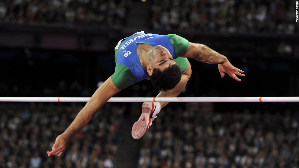 Brazil's Flavio Reitz competes in the men's high jump F42 final on Monday, September 3.