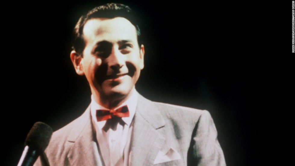 "After his 1991 arrest made him the target of some gags, Paul Reubens took the VMAs stage as Pee-wee Herman, asking, ""Heard any good jokes lately?"""