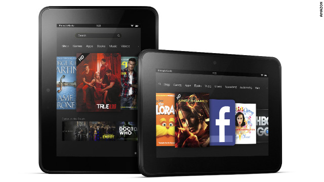Amazon's new 7-inch Kindle Fire HD will cost $199 and ship September 14. A bigger, 8.9-inch version, ships in November.