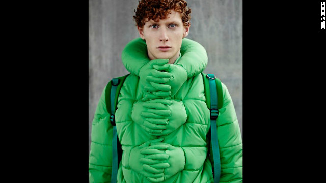 Let's all give a hand to the designers of the Hug Me jacket. Get it? A hand?
