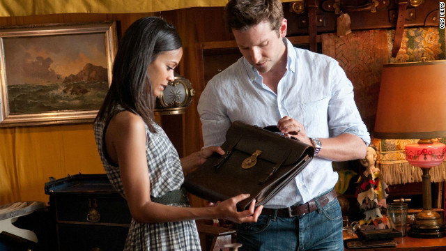 "Zoe Saldana stars as Dora Jansen and Bradley Cooper as Rory Jansen in ""The Words."""