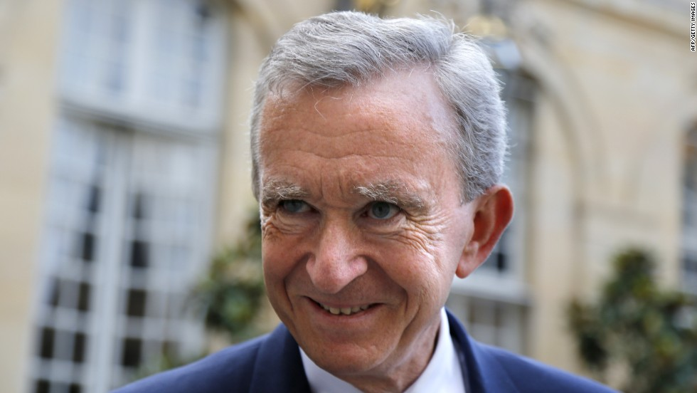 LVMH's Bernard Arnault speaks to CNN during New York Fashion Week