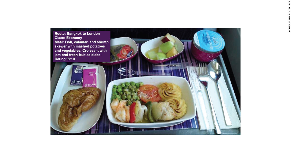 "Perhaps a little odd for the time of day but still appreciated by passenger, Simon Mazzi. He wrote: ""Good breakfast as usual on Thai Airways."""