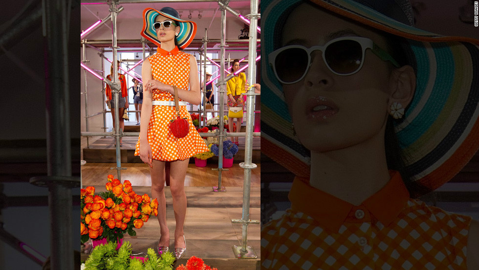 Kate Spade's 2013 spring line is technicolor-inspired, with bold, bright colors and playfully shaped handbags.