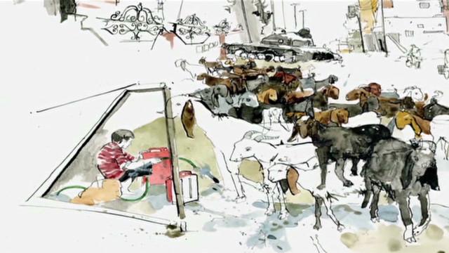 Artist captures life inside Syria