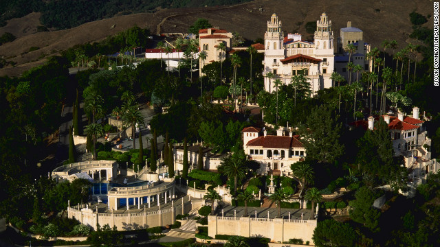 Hearst Castle is threatened by a wildfire.