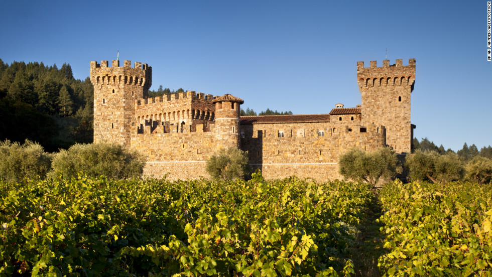 "This modern-day Napa Valley castle in Calistoga, California, took 14 years to construct using historically accurate medieval building techniques. <a href=""http://www.budgettravel.com/slideshow/photos-12-amazing-american-castles,8851/"" target=""_blank"">See more photos of the castles</a>"