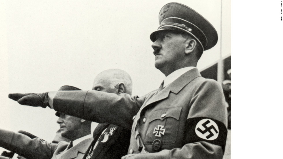 Nazi leader Adolf Hitler opens the Summer Olympic Games on August 1, 1936, in Berlin, Germany.