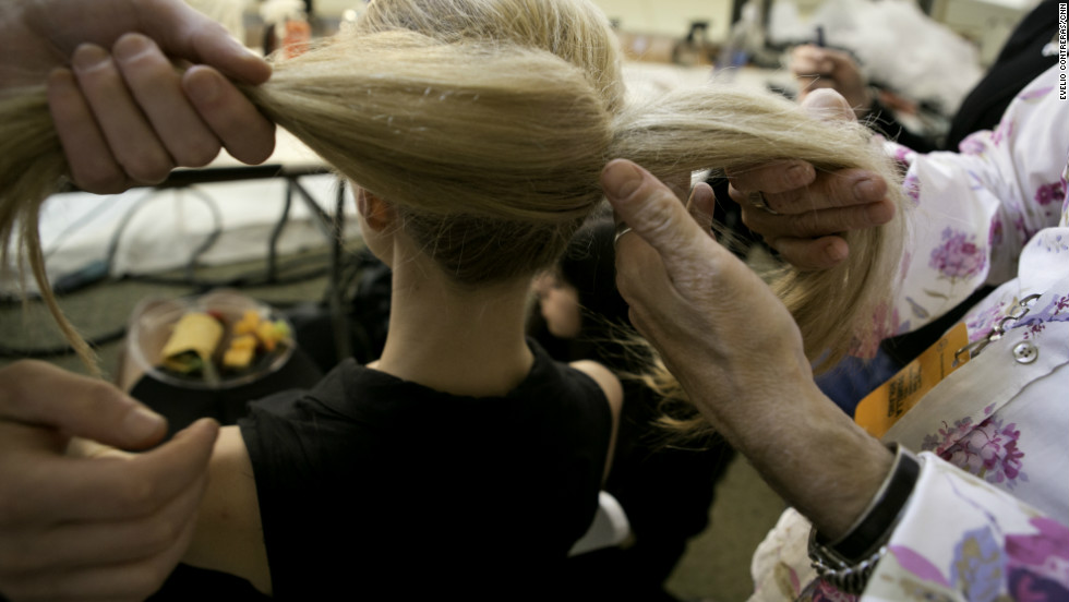 Then, separate the ponytail in half.