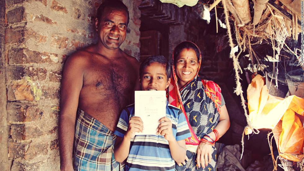 Despite some of the villagers having never used a phone, they quickly learned how it worked. Pictured is a family who have participated in the program.