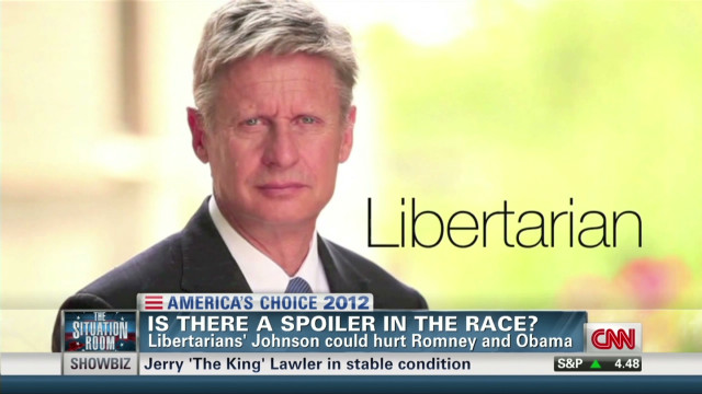 Gary Johnson could be a spoiler