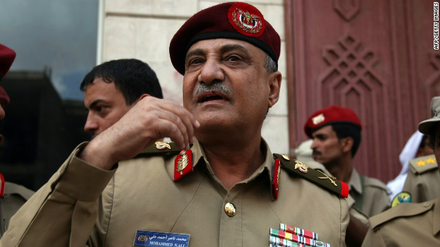 Maj. Gen. Mohammed Nasser Ahmed is shown in April. The bombing marks the second time he was targeted, an official said.