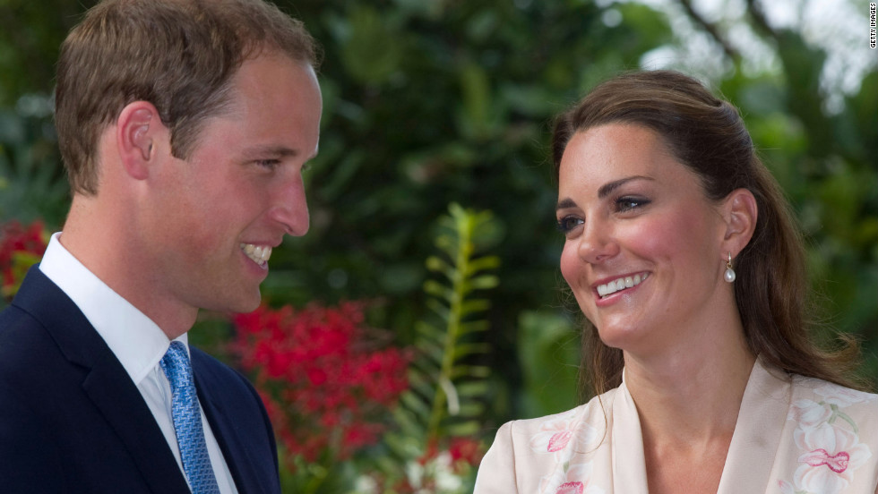 After their arrival Tuesday Catherine and her husband, Prince William, visit the Singapore Botanic Gardens.