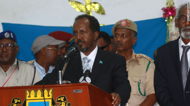 A suicide bomb struck Somalia's capital near the presidential palace of newly elected President Hassan Sheikh Mohamud.
