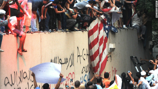 Protesters storm U.S. embassy buildings