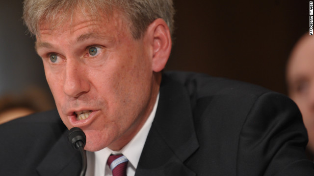 John Stevens testifies before the Senate Foreign Relations Committee on his nomination to be ambassador to Libya March 20, 2012 in the Dirksen Senate Office Building on Capitol Hill in Washington, DC. AFP PHOTO/Mandel NGAN (Photo credit should read MANDEL NGAN/AFP/Getty Images)