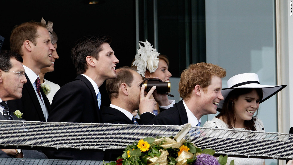 The British Royal Family watch Camelot storm to victory at the Epsom Derby. The Queen's horse, Carlton House, had been the bookmakers favorite to win, but came third.