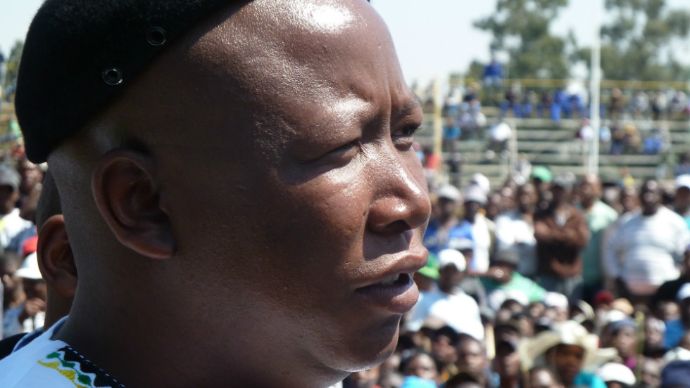 "Malema announced to a crowd of striking workers at Gold Fields that: ""There must be a national strike in all the mines."""