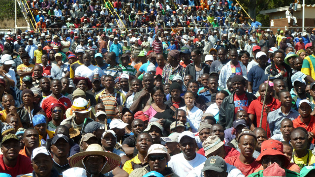 Labor unrest has interrupted platinum production in South Africa.