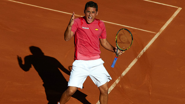 Nicolas Almagro (pictured) and David Ferrer have put Spain firmly in control of their Davis Cup semifinal against the U.S.
