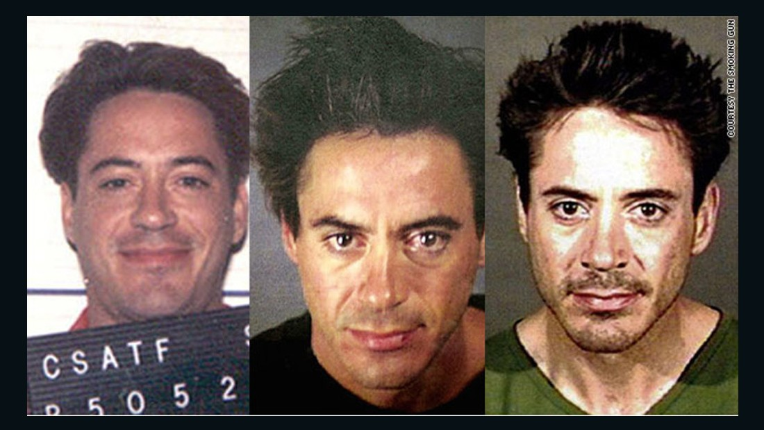 Robert Downey Jr.'s drug problems are almost as famous as his talent. He served time in the late 1990s on a drug conviction, was arrested in November 2000 for drug possession and was busted again in April 2001 in Culver City, California. He received a Christmas Eve pardon in 2015 from California Gov. Jerry Brown for his 1996 convictions for possessing drugs and a weapon.